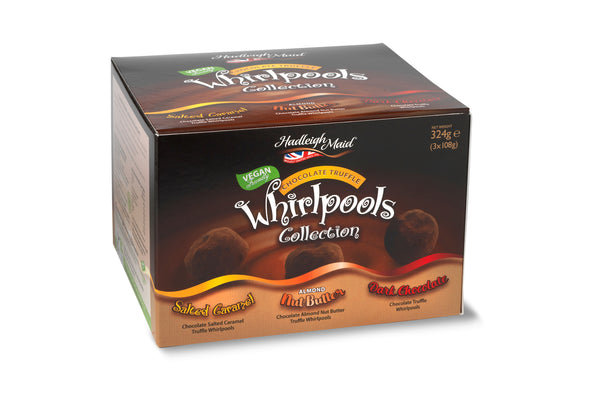 NEW! Dark Chocolate Truffle Whirlpools Collection Gift Box - 324g (3x108g)