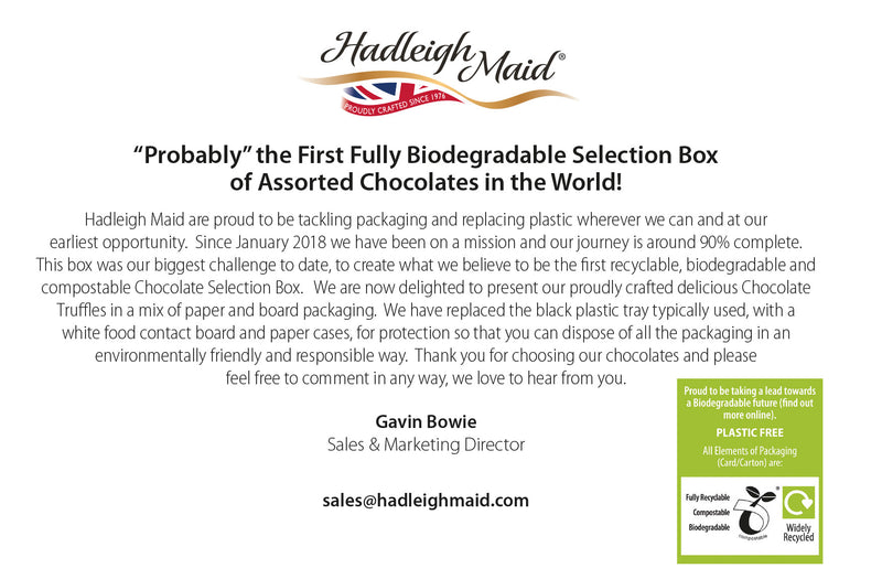 NEW VEGAN FRIENDLY Artisan Chocolate Truffle Collection (100g - 8 pieces)