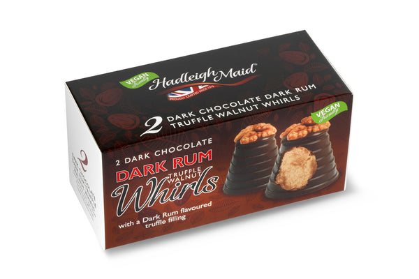 Dark Chocolate and Dark Rum Truffle Walnut Whirls - Twin Pack (90g)