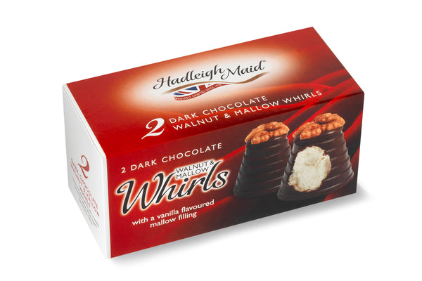 Dark Chocolate Walnut and Mallow Whirls - Twin Pack (75g)