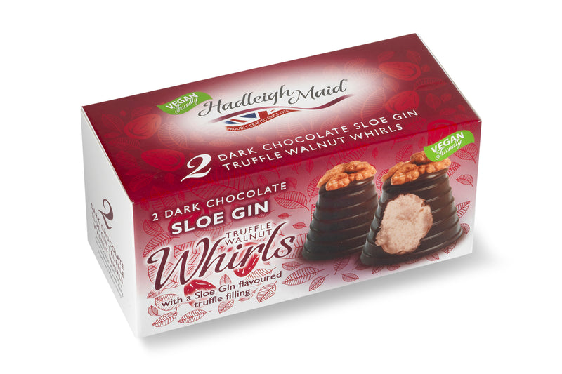 Dark Chocolate and Sloe Gin Truffle Walnut Whirls - Twin Pack (90g)