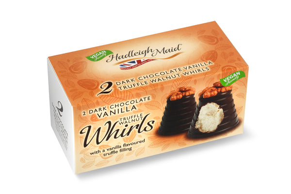 Dark Chocolate and White Vanilla Truffle Walnut Whirls - Twin Pack (90g)