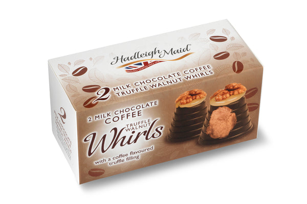 Milk Chocolate COFFEE Truffle Walnut Whirls - Twin Pack (92g)