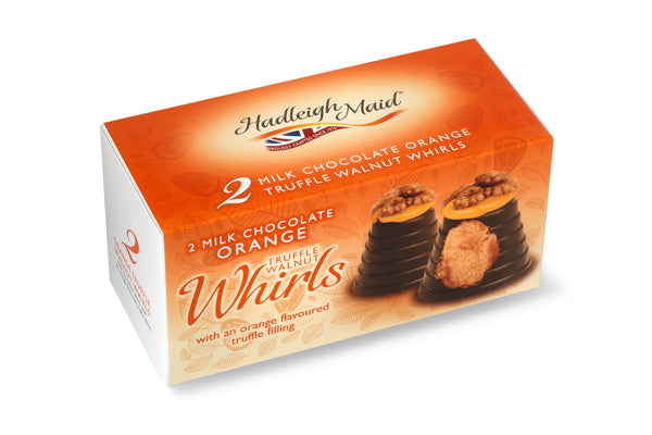 Milk Chocolate Orange Truffle Walnut Whirls - Twin Pack (92g)