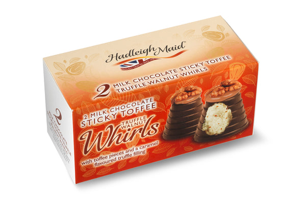 Milk Chocolate Sticky Toffee Truffle Walnut Whirls - Twin Pack (90g)