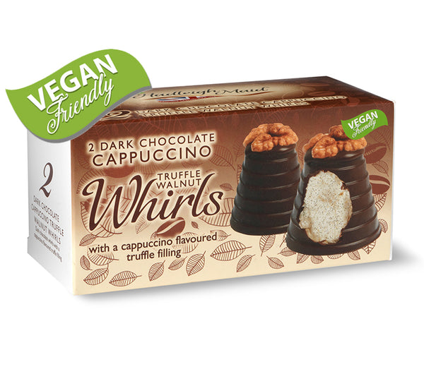 Dark Chocolate Cappuccino Truffle Walnut Whirls - Twin Pack (90g)
