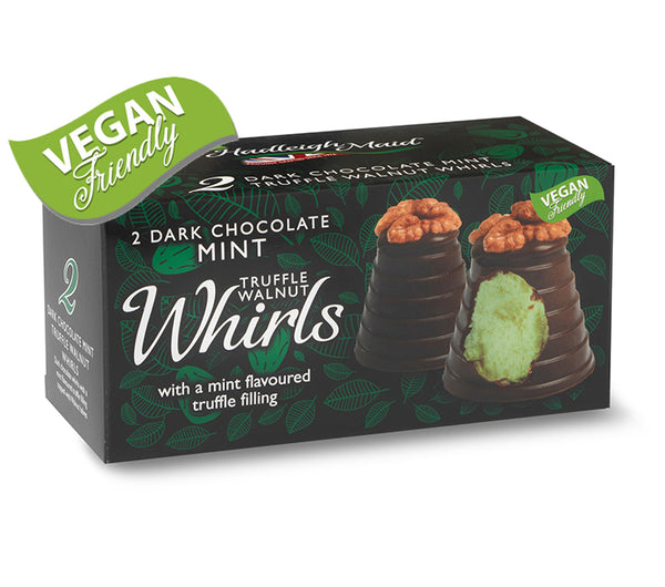 Dark Chocolate and Mint Truffle Walnut Whirls - Twin Pack (90g)