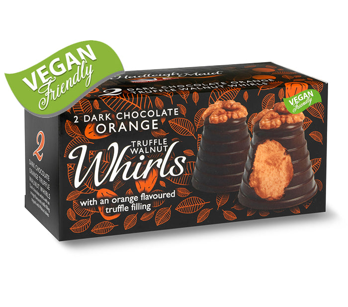 Dark Chocolate and Orange Truffle Walnut Whirls - Twin Pack (100g)