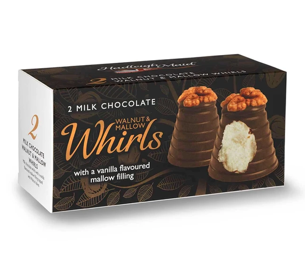 Milk Chocolate Walnut and Mallow Whirls - Twin Pack (75g)