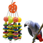Wooden Chew Bird Toy With Plastic Balls, 16""