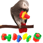 Bird Plastic Toys Set With Different Colors And Shapes