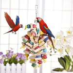"12.5"" Wooden Colorful Bird Chew Toy"
