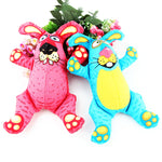Dog Toy In Shape Of Bunny From Strong Cloth Canvas (Blue, Pink), 9""