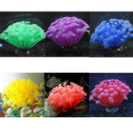 Artificial Fluorescent Silicone Plants Aquarium Decoration (Green, Purple, Blue, Red, Yellow, Pink), 6""