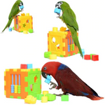 Colorful Plastic Puzzle Bird Toys With Figures, 4.5""