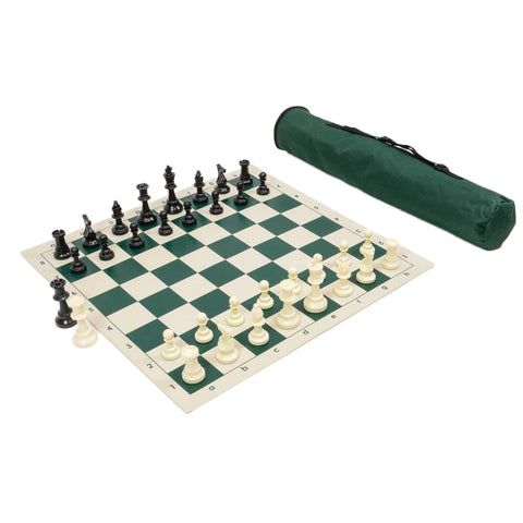 Archer Chess Bag w/ Standard Board & Weighted Pieces Combo