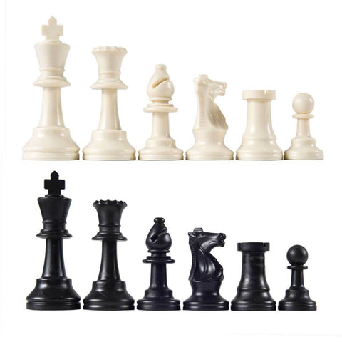 Weighted Plastic Chess Pieces