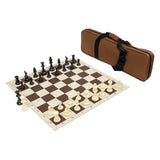 Carry-All Chess Bag w/ Standard Board & Weighted Pieces Combo