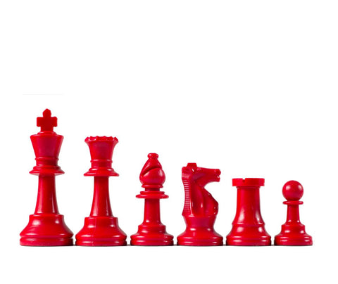 Standard Plastic Chess Pieces: Half Set