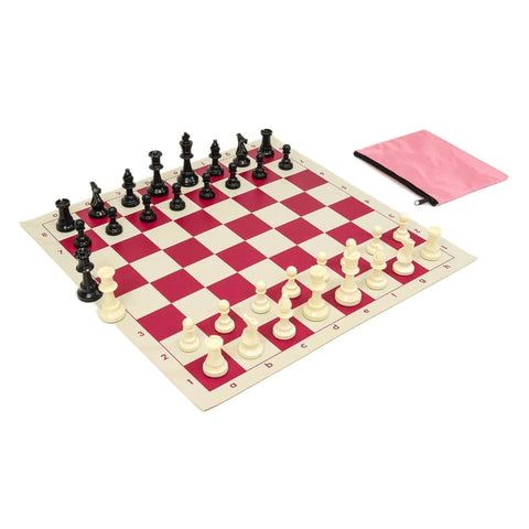 Perfect Fit Chess Bag w/ Standard Board & Pieces Combo