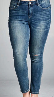 Distressed Skinny Ankle Jean