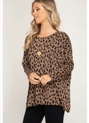 Leopard Print V-Cut Back Top