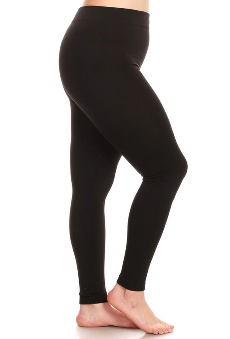 Plus Size Black High Waisted Legging