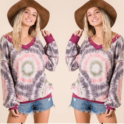 Tye Dye Long Sleeve Top