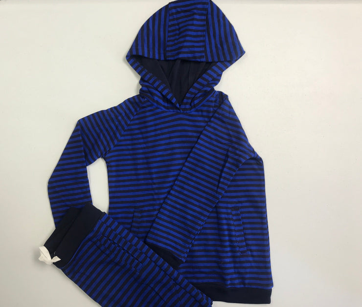 Striped Hoodie and Pant Set