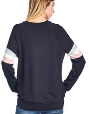 Long Sleeve Faith Shirt With Paneling