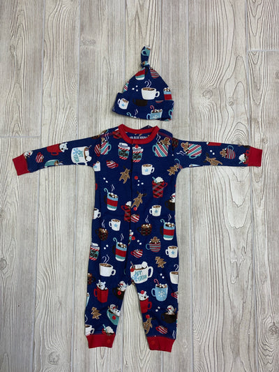 Infant Boy Sleeper & Cap Set