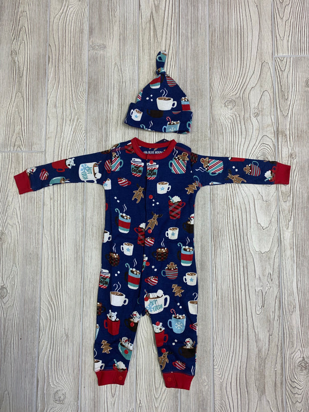 Infant Boy Hot Cocoa Sleeper & Hat Set