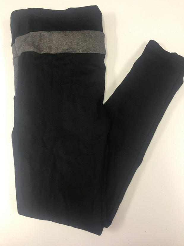 Black and Gray fleece Lounging pant-One Size