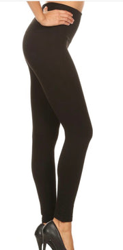 Black One Size High Waisted Leggings