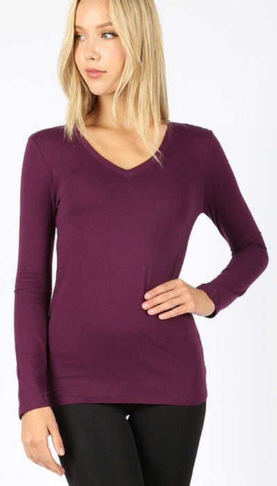 Dark Plum Long Sleeve