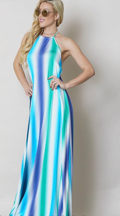 Vertical Striped Maxi