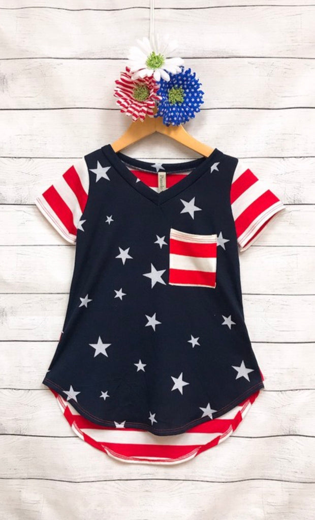 Red, White, and Blue Girls Tunic
