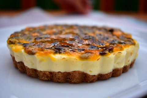keto gluten free sugar free passion fruit no bake cheesecake