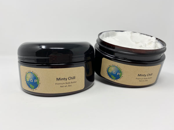 Body Butter - Minty Chill 8 ounces