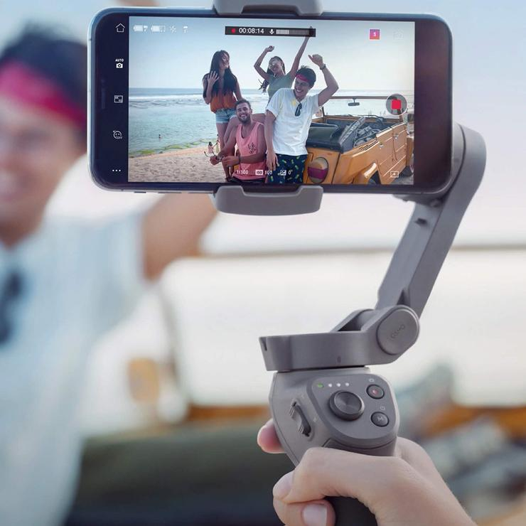(🔥Special Offer Today Only & Free Shipping!)2020 Latest Upgraded Ergonomic Grip Foldable Smartphone Gimbal Stabilizer with Multiple Intelligent Controls.