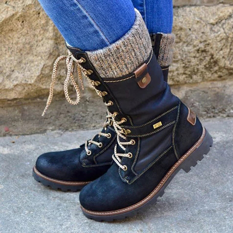 Plain Round Toe Boots
