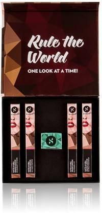 "SUGAR Matte As Hell ""Nude Vs Bold"" Crayon Lipstick Gift Box  (Multi, 100 g)"