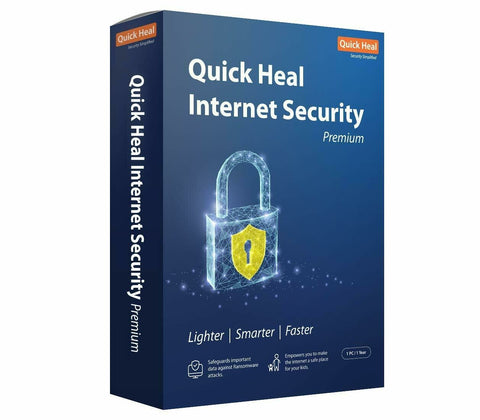Quick Heal Internet Security for 1 user 1 year