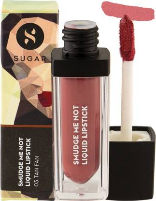 Sugar SMUDGE ME NOT LIQUID LIPSTICK - 03 Tan Fan (Mauve Nude)  (03 Tan Fan, 4.5 ml)