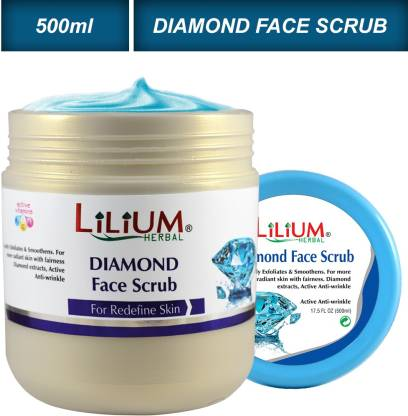 Lilium Diamond Gently Exfoliates & Smoothens Face Scrub 500ml Scrub  (500 ml)