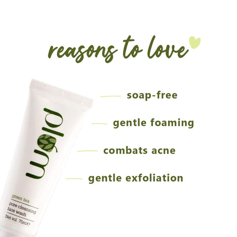 Plum Green Tea Pore Cleansing Face Wash | Acne Face Wash For Women | Oily Skin | Bright, Clear Skin | 100% Vegan | Soap-Free | 75ml
