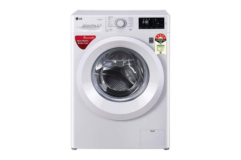 LG 6.5 Kg 5 Star Inverter Fully-Automatic Front Loading Washing Machine FHT1065HNL White, 6 Motion Direct Drive & Steam