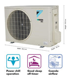 Daikin 1.5 Ton 5 Star Inverter Split AC (Copper, Anti Microbial Filter, FTKG50TV16 White)