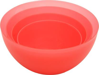 Jaypee plus Multi Purpose Bowls Plastic Mixing Bowl  (Red, Pack of 4)