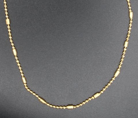 Fancy Gold Plated Brass Chain(JCD5)